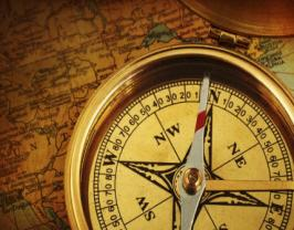 Compass pointing North