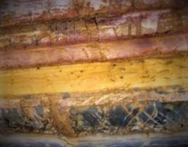 Colorful striation layers