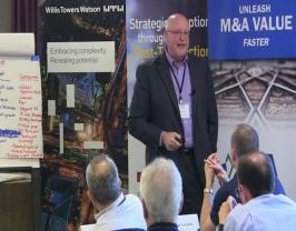 John Sinkus presents at M&A Leadership Council event